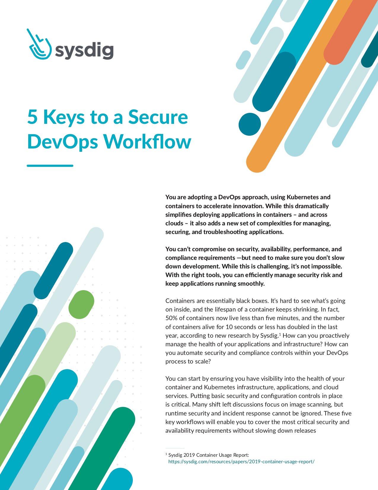 5 Keys to a Secure DevOps Workflow_cover