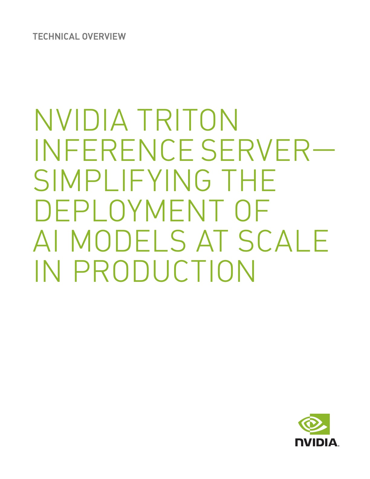 Cover_NVIDIA TRITON INFERENCE SERVER— SIMPLIFYING THE DEPLOYMENT OF AI MODELS AT SCALE IN PRODUCTION