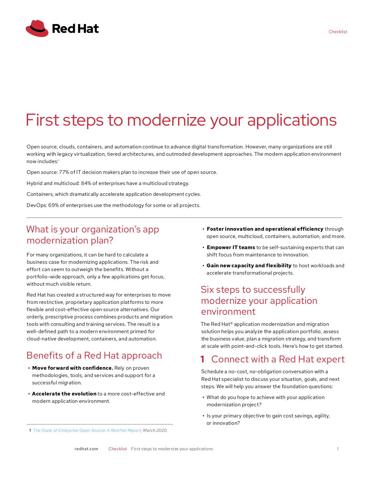 First Steps to Modernize Your Applications_cover