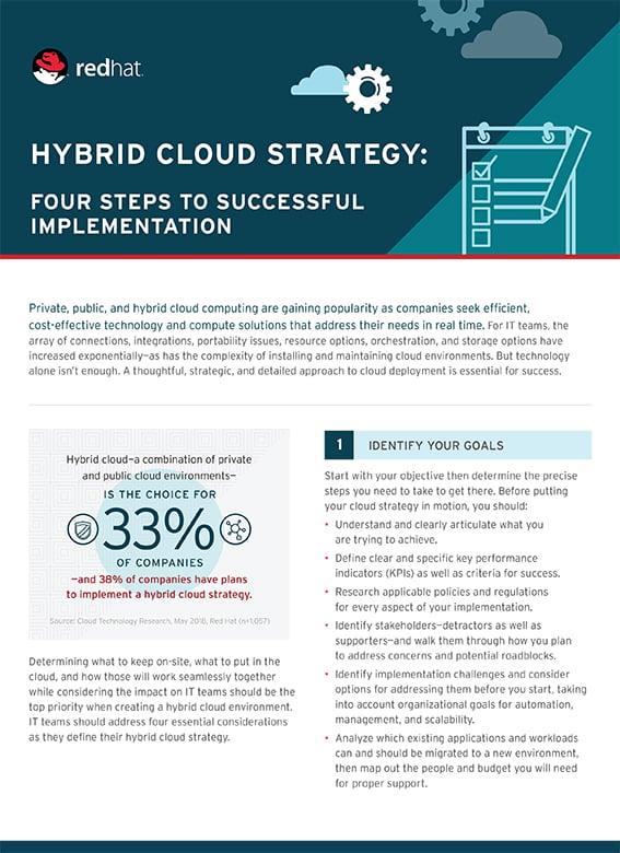HybridCloudStrategyFourSteps